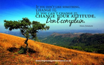 If you don't like something….